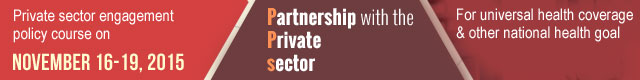 Private sector engagement policy course on november 16-19 2015